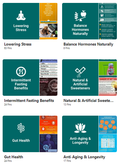 Overview of mental food chain boards on pinterest from lowering stress to longevity