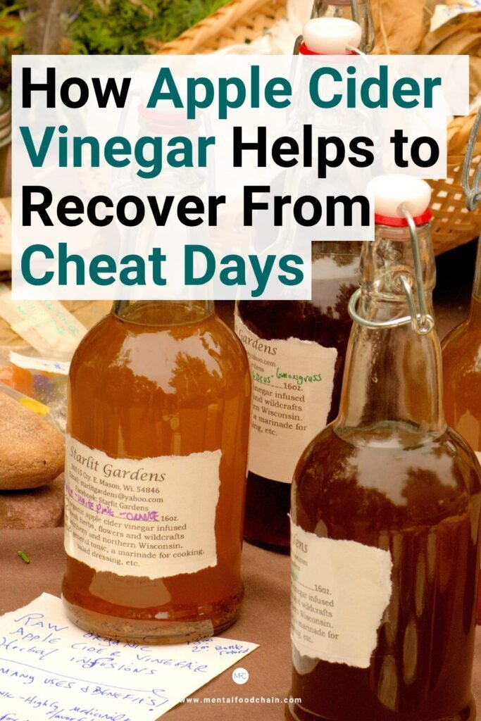 Drinking apple cider vinegar is what to do after a cheat day on keto to stabilize blood sugar levels