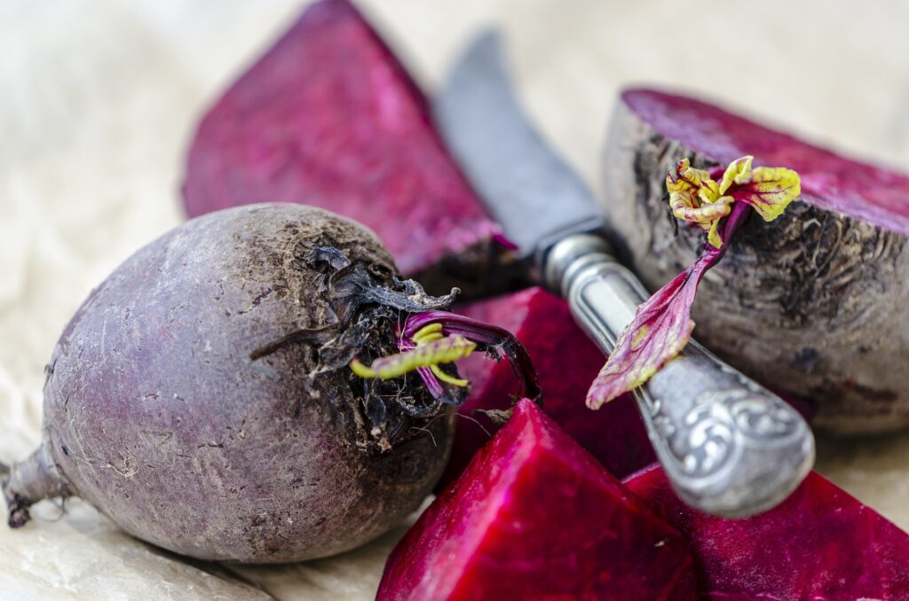 Beetroot is a great source of potassium and iron