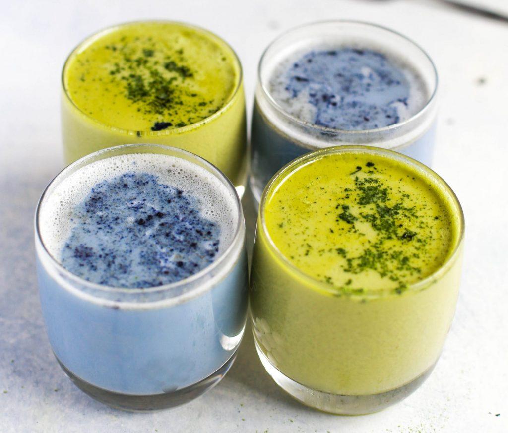 Auch Blau-Algen Lattes haben die Spirulina-Wirkung