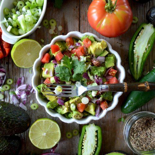 low-carb keto guacamole