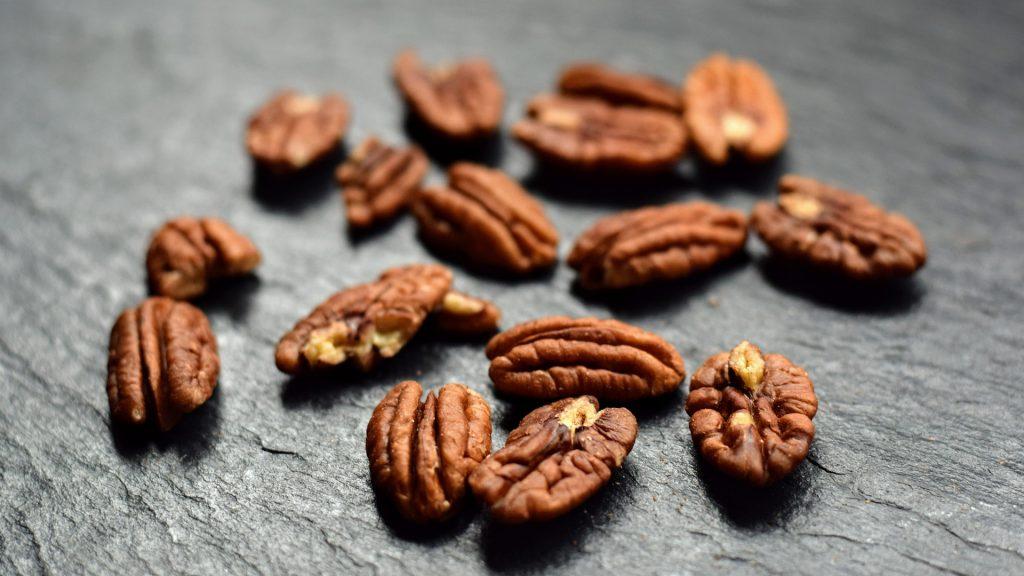 Pekan-Nüsse sind ein fettreicher Snack