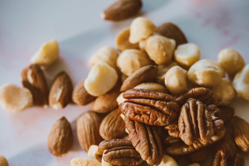 almonds, macadamias, and pecans are great keto nuts