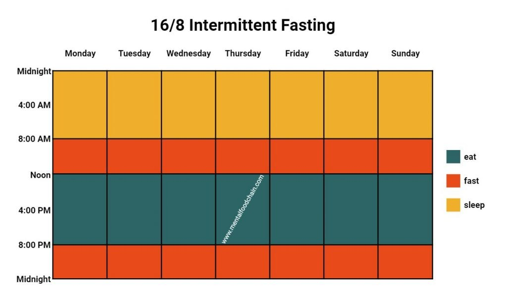 Intermittent Fasting Diet Plan for Beginners 16/8