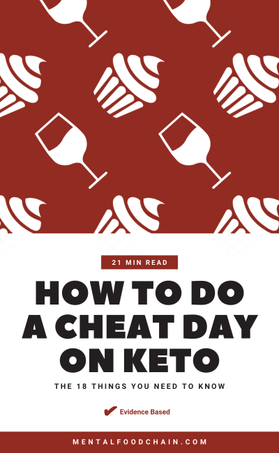 How to Do a Cheat Day on Keto - The 18 Things You Need to Know Blog Cover With Cake and Wine